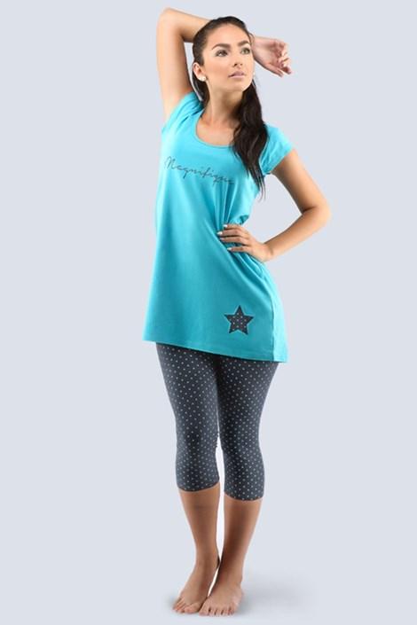 Dámské pyžamo Star tyrkysové