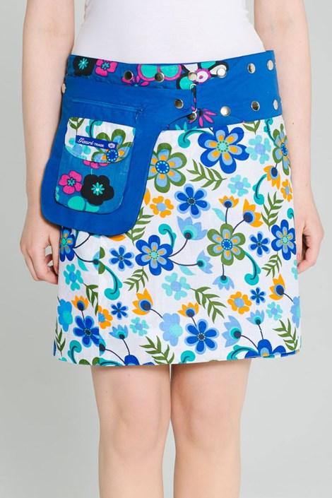Oboustranná sukně Riga ruční výroby ze 100% bavlny