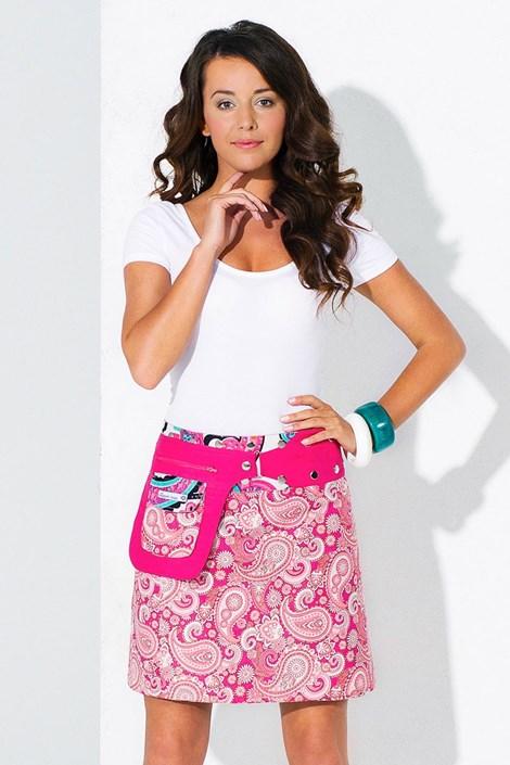 Oboustranná sukně Miami ruční výroby ze 100% bavlny