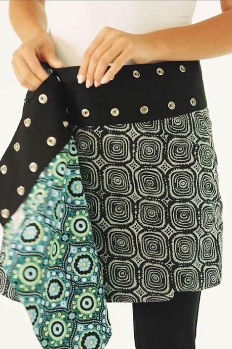 Oboustranná sukně Stockholm ruční výroby ze 100% bavlny