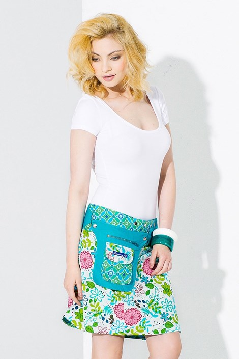 Oboustranná sukně Dublin ruční výroby ze 100% bavlny