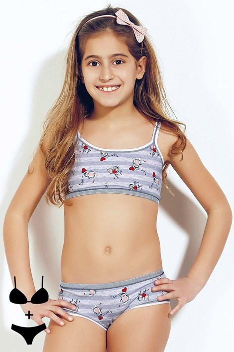 Dívčí komplet top a kalhotky Bimba 372v1