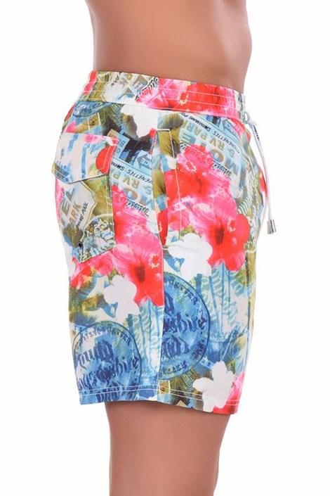 Pánské luxusní italské šortky plavky 5951D2 - delší nohavička