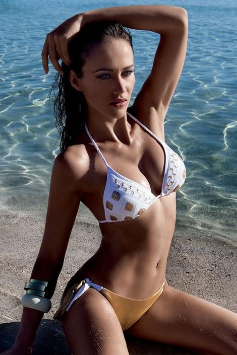 Horní díl dámských luxusních plavky Gold bez kostic