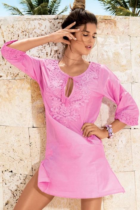 Luxusní plážové šaty ručně zdobené z kolekce David Mare 6605