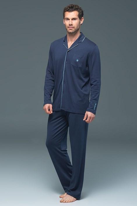 Pánské pyžamo Lion Navy - modal