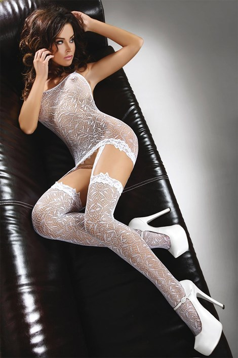 Bodystocking Catriona - bílý
