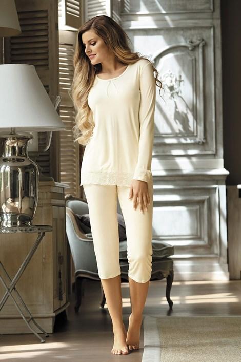 Elegantní dámské pyžamo Cornelia Ecru
