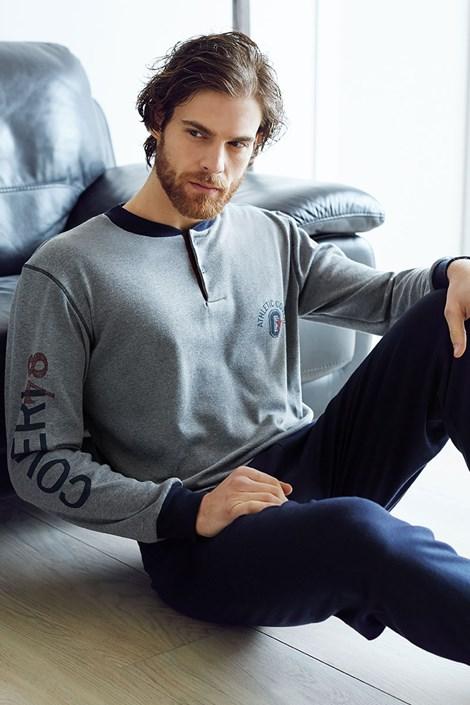 Pánský bavlněný komplet Dario šedý