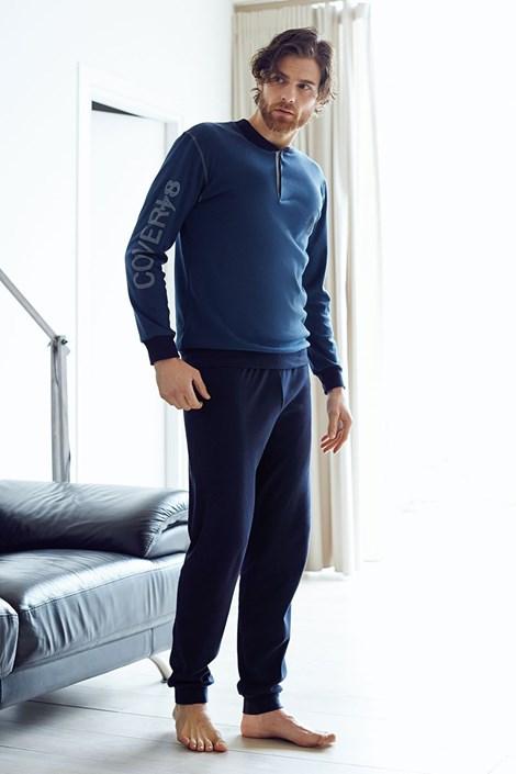 Pánský bavlněný komplet Dario modrý