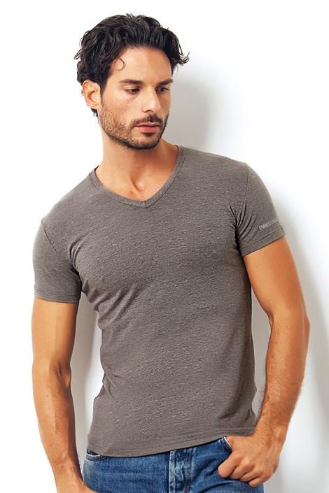 Pánské italské tričko Enrico Coveri1505 Brown