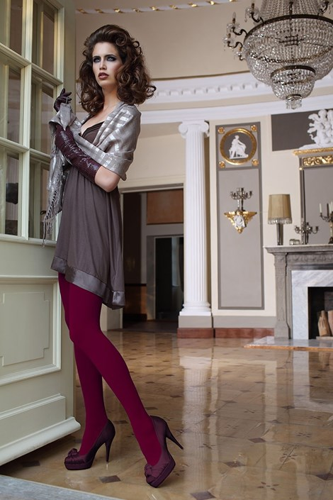 Dres elegant Glamour Soft Bordó
