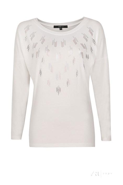 Luxusní dámské triko se třpitivým odleskem Goga
