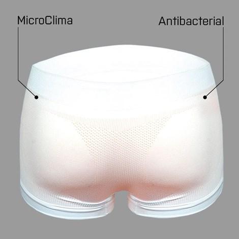 Boxerky bezšvové antibakteriálne EXTRA krátka nohavička White