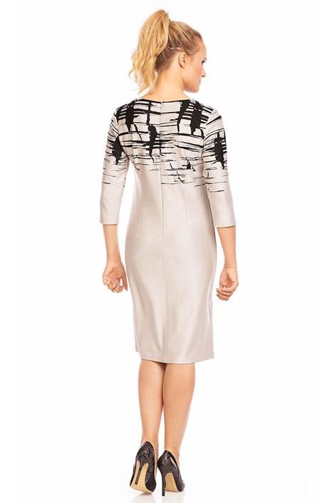 Dámské šaty Livia Beige se vzorem