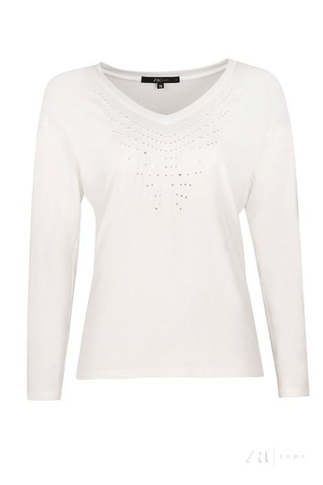 Luxusní dámské triko Peg White