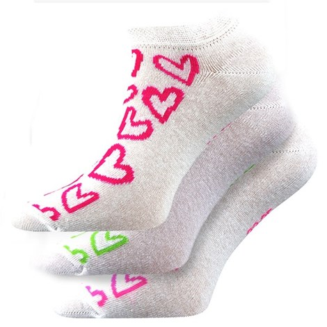 3pack ponožek Piki Mix 40 bílé