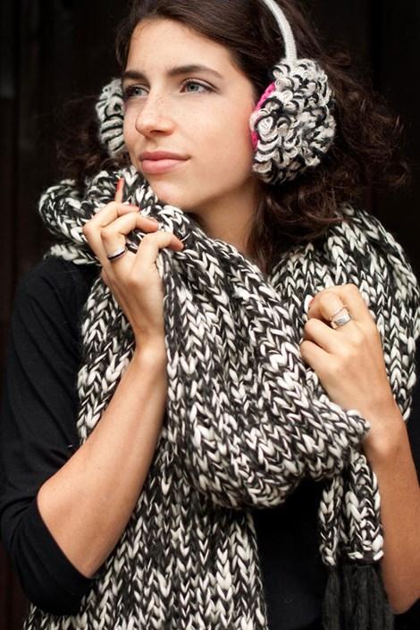 Pletený šál Laura