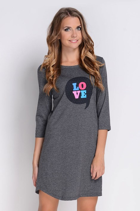Dámská noční košile Love Grafit