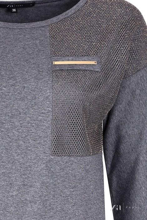 Dámské luxusní triko Sati Grey