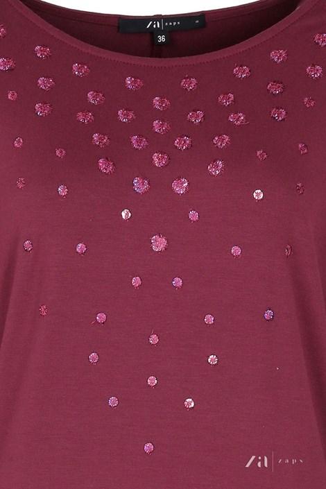 Dámské elegantní triko Tana Burgund