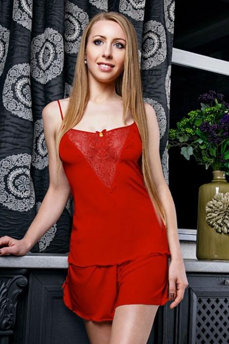 Elegantní pyžamo Venice Red