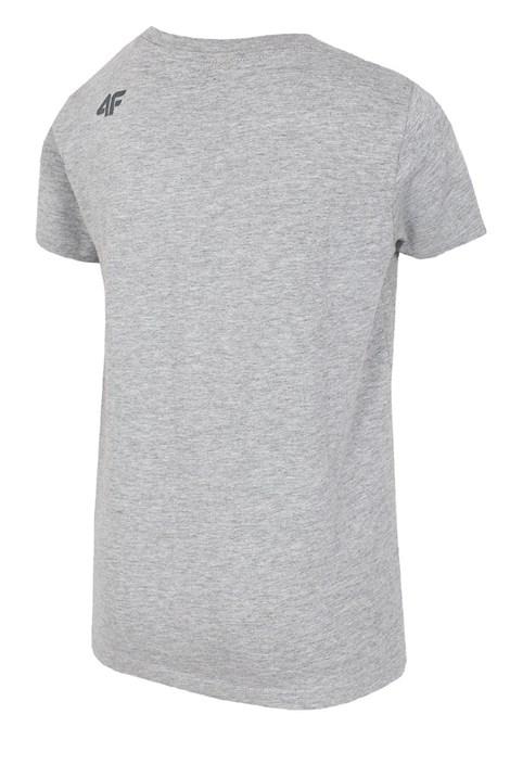 Детская хлопковая футболка Grey 4f