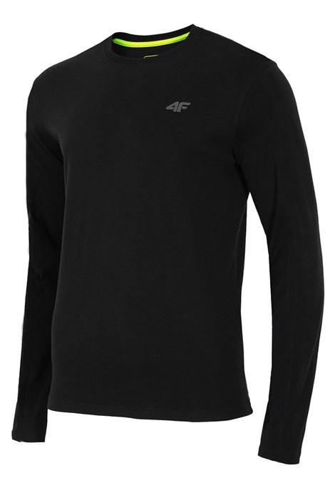 Pánske bavlnené tričko s dlhým rukávom Black