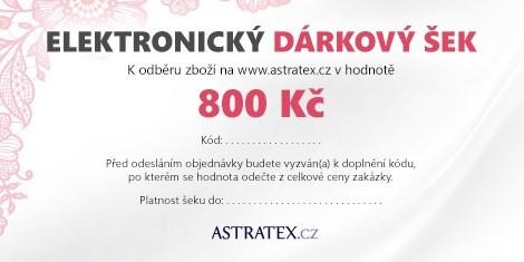 ELEKTRONICKÝ dárkový šek 800 Kč