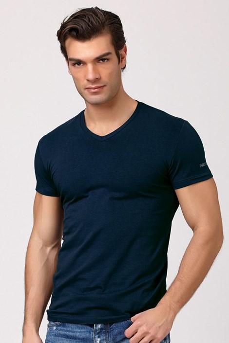Pánské italské tričko Enrico Coveri ET1501 Jeans bavlněné