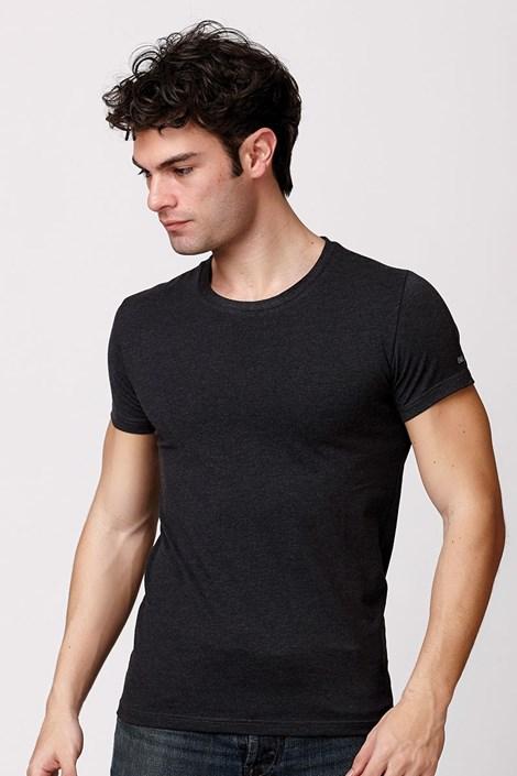 Мужская итальянская футболка Enrico Coveri ET1504 Antracit хлопковая