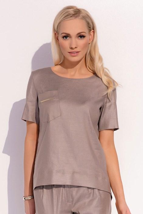 Женская роскошная льняная блуза Gracja 020