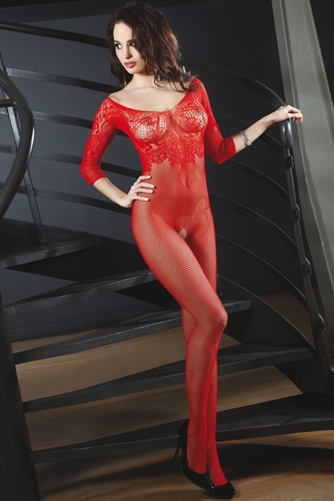 Bodystocking seducator Josslyn Red