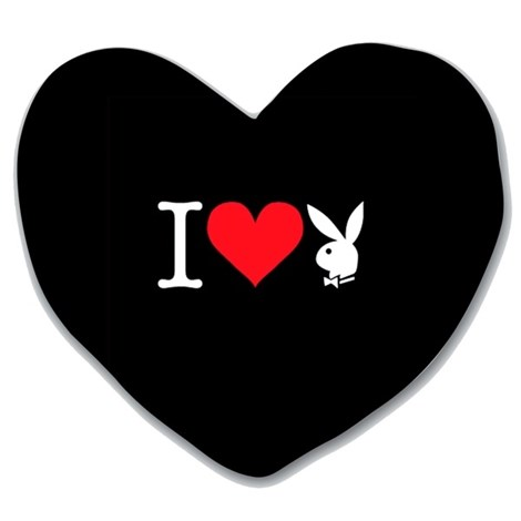 Polštářek Heart Bunny black