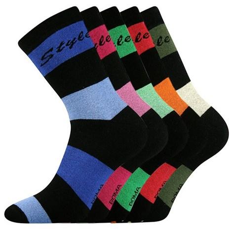 5 pack ponožek Pruh