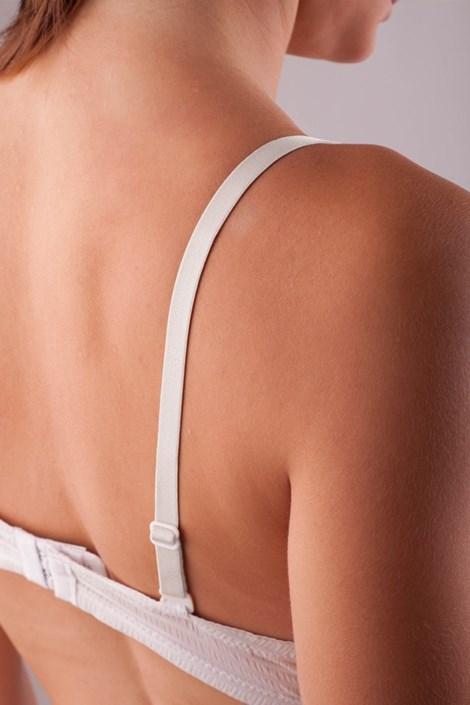 Textilní ramínka 10 mm bílá