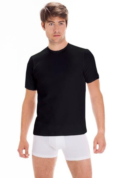 Мужская хлопковая футболка с коротким рукавом Black