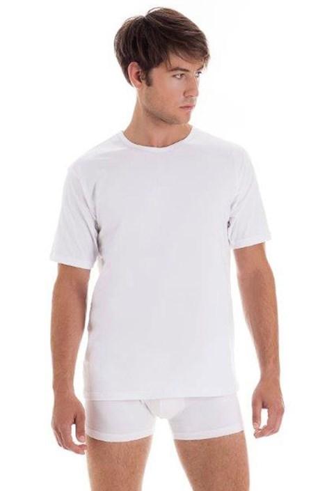 Pánské bavlněné tričko s krátkým rukávem White