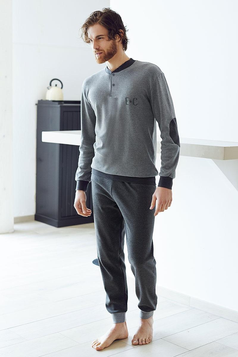 Pánský bavlněný komplet Angelo šedý