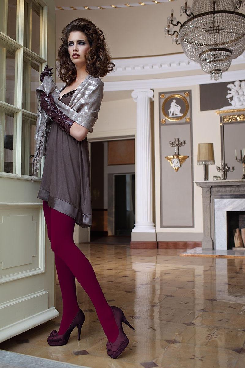 Elegantní punčochové kalhoty Glamour Soft Bordó