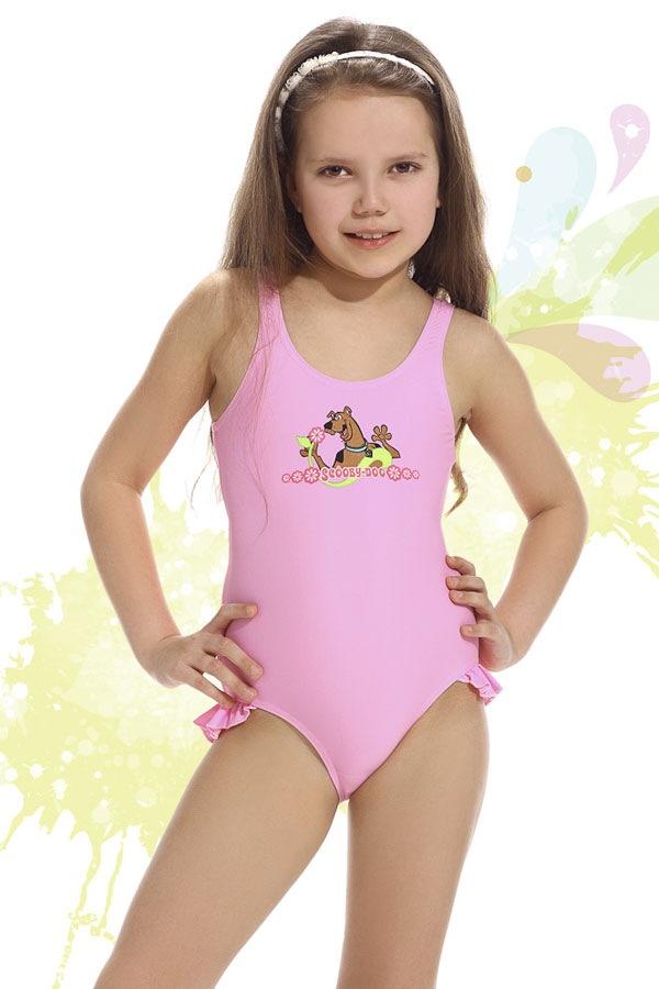 Plavky dívčí Smiling růžové