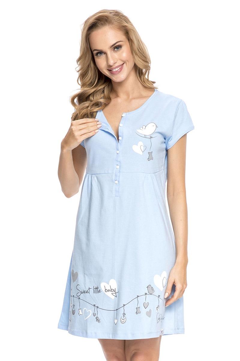 Mateřská, kojící košilka Tamara Blue