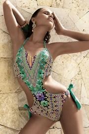 Dámské luxusní monokini Giulia s kosticemi