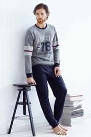 Pánský bavlněný komplet Tommaso šedý