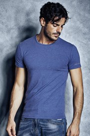 Pánské bavlněné triko 1504 Cobalto