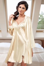 Luxusní saténový župan Linda