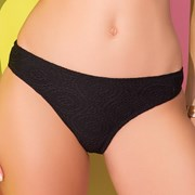 Slip costum de baie Strappy Black