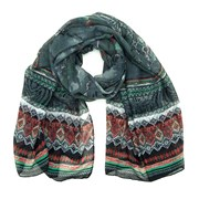 Nápaditý šátek Orient šedý