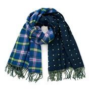 Dámský šátek oboustranný Blue