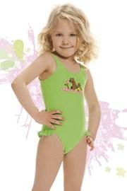 Plavky dievčenské Smiling zelené